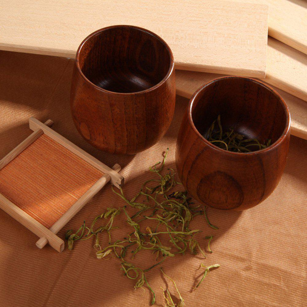 Discount Chinese Style Handmade Natural Wooden Tea Cups Drinkware Kitchen Gadgets Accessories