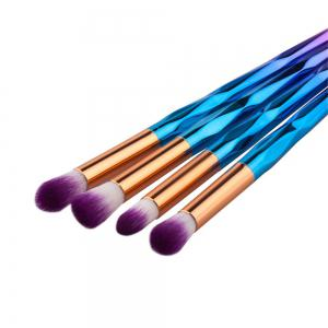10PCS Rhinestone Tools Pro Powder Foundation Eye Lip Concealer Face Colorful Brush Kit -