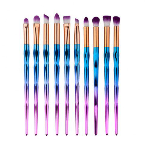 10PCS Rhinestone Tools Pro Powder Foundation Eye Lip Concealer Face Colorful Brush Kit