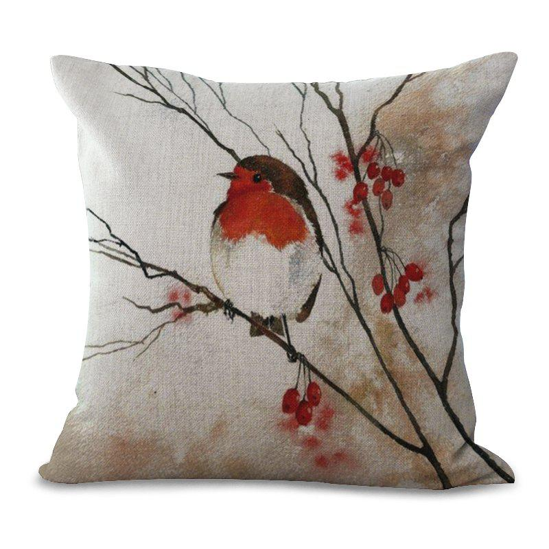 Shops A1107-3 New Fashion Pillow Flower Art Printing Pillow Cushion Cover Simple Bedroom Holding Car 45x45cm