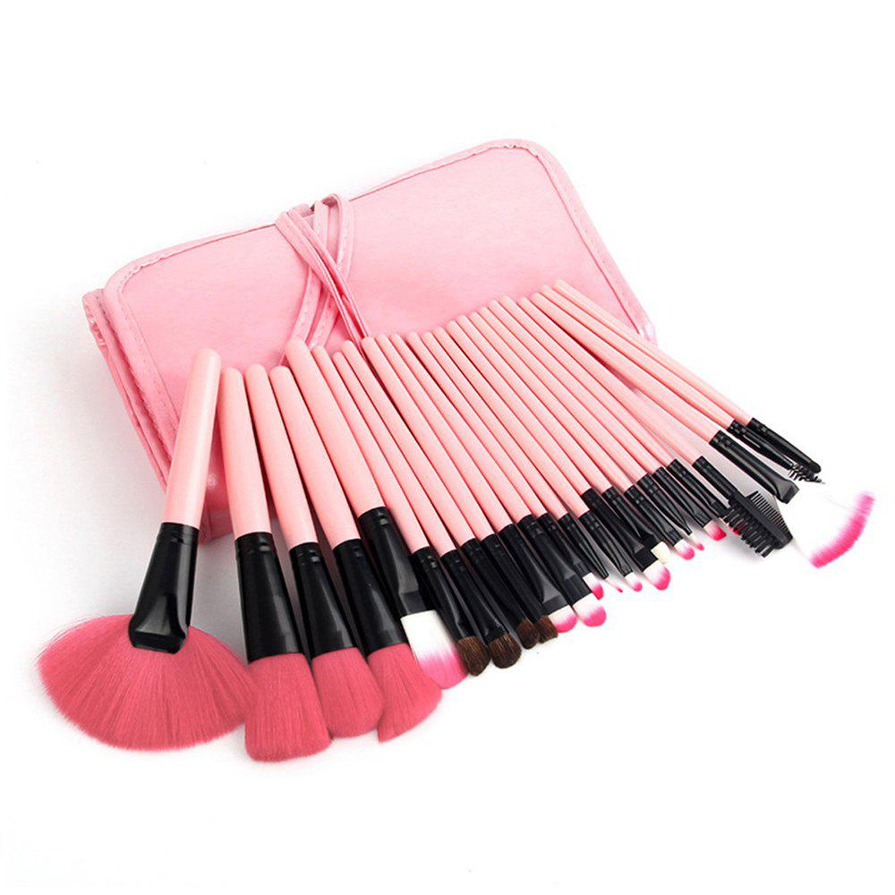 24PCS rose maquillage costume de brosse