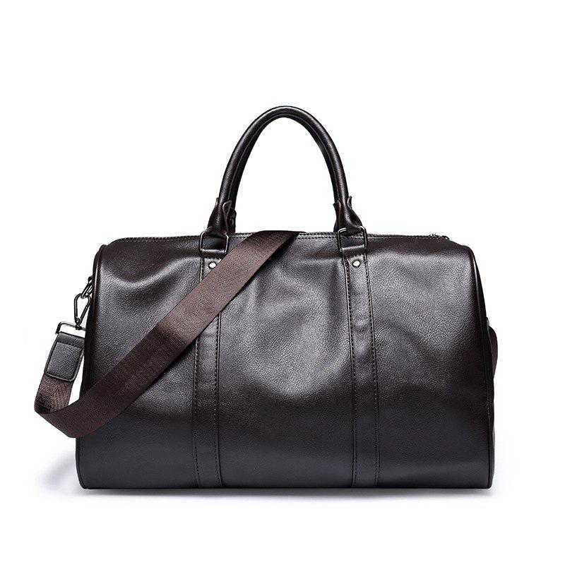 Outfit Soft PU Leather Handbag Business Casual Portable Briefcase Travel Bag