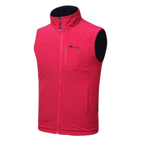 Shops Men's Reversible Polar Fleece Two-Sided Wear Zipper Pocket Sleeveless Waistcoat