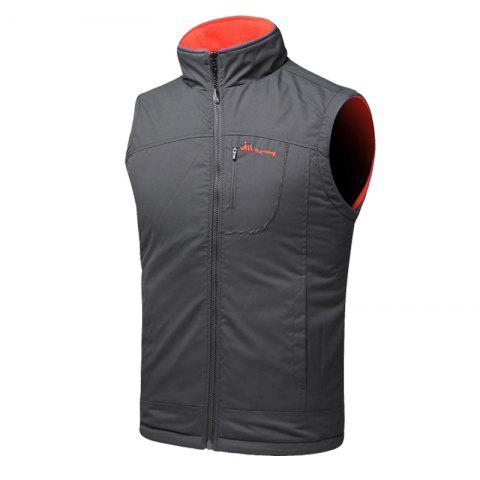 Discount Men's Reversible Polar Fleece Two-Sided Wear Zipper Pocket Sleeveless Waistcoat