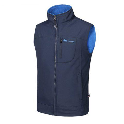 Shop Men's Reversible Polar Fleece Two-Sided Wear Zipper Pocket Sleeveless Waistcoat
