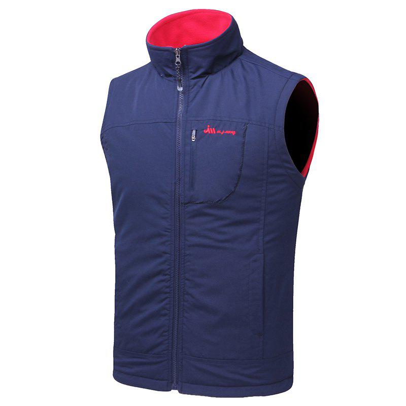 Online Men's Reversible Polar Fleece Two-Sided Wear Zipper Pocket Sleeveless Waistcoat