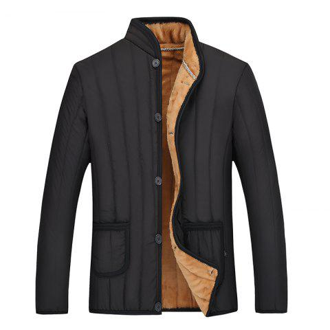 Unique Men's Quilted  Casual Warm Coat