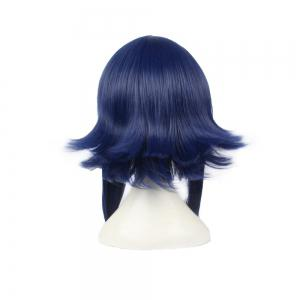 Hinata Student Dark Blue 45cm Straight Long Hair Anime Cosplay Custome Synthetic Wigs for Girls -