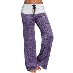 Elastic Waist Large Size Leisure Sports Flared Trousers Yoga Pants -