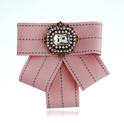 Chic New Fashion Rectangular Rhinestone Beads Bowknot Brooch Boutonniere Dual Use Temperament Cravat Tie