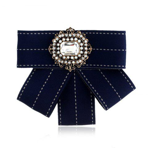 Новая мода Rectangular Rhinestone Beads Bowknot Brooch Boutonniere Dual Use Temperament Cravat Tie