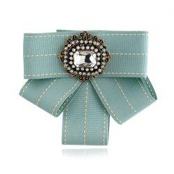 Новая мода Rectangular Rhinestone Beads Bowknot Brooch Boutonniere Dual Use Temperament Cravat Tie -