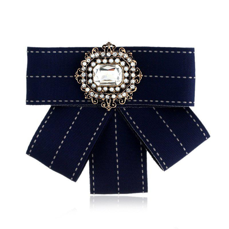 Affordable New Fashion Rectangular Rhinestone Beads Bowknot Brooch Boutonniere Dual Use Temperament Cravat Tie
