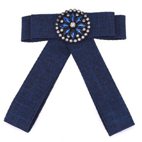 Shops New Fashion Rectangular Rhinestone Bowknot Brooch Boutonniere Dual Use Temperament Cravat Crystal Tie Accessories