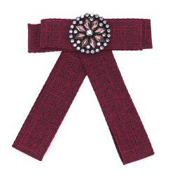 New Fashion Rectangular Rhinestone Bowknot Brooch Boutonniere Dual Use Temperament Cravat Crystal Tie Accessories -