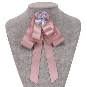 New Fashion Bowknot Crystal Brooch Boutonniere Dual Use Temperament Cravat Tie Wedding Tassel Ties -