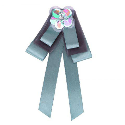 Outfits New Fashion Bowknot Crystal Brooch Boutonniere Dual Use Temperament Cravat Tie Wedding Tassel Ties
