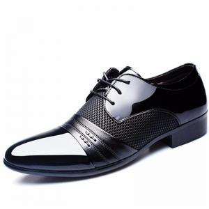 Homme formel pointu Lace Up Business Blucher Chaussures -