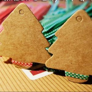 DIHE DIY Arborescence Retro Card Christmas Ornament 50PCS -