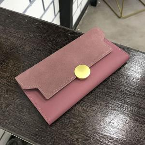 Fashion Simple Metal Decoration Two Fold Wallet -