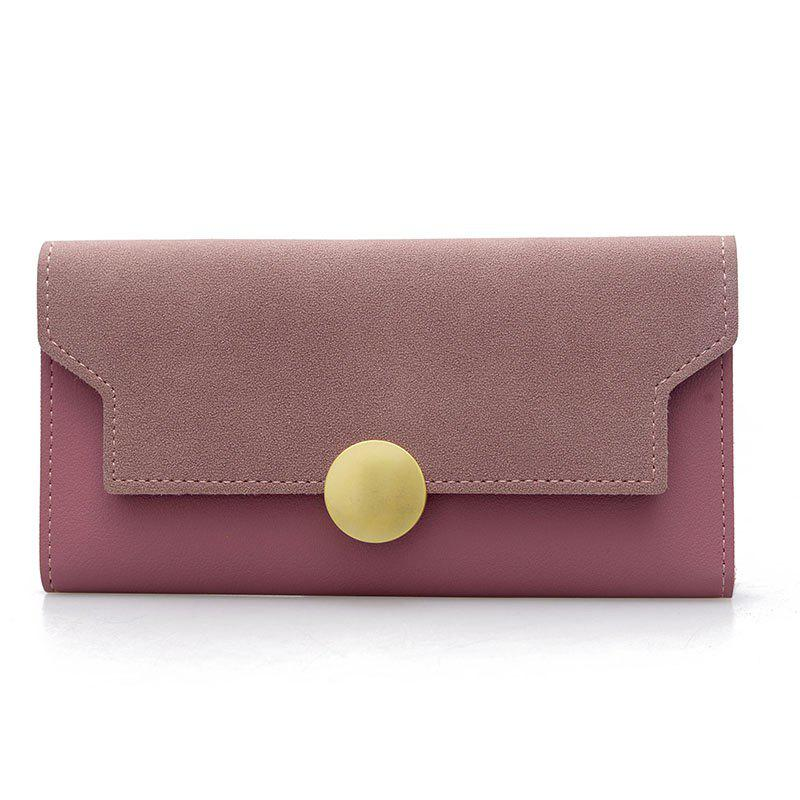 Best Fashion Simple Metal Decoration Two Fold Wallet