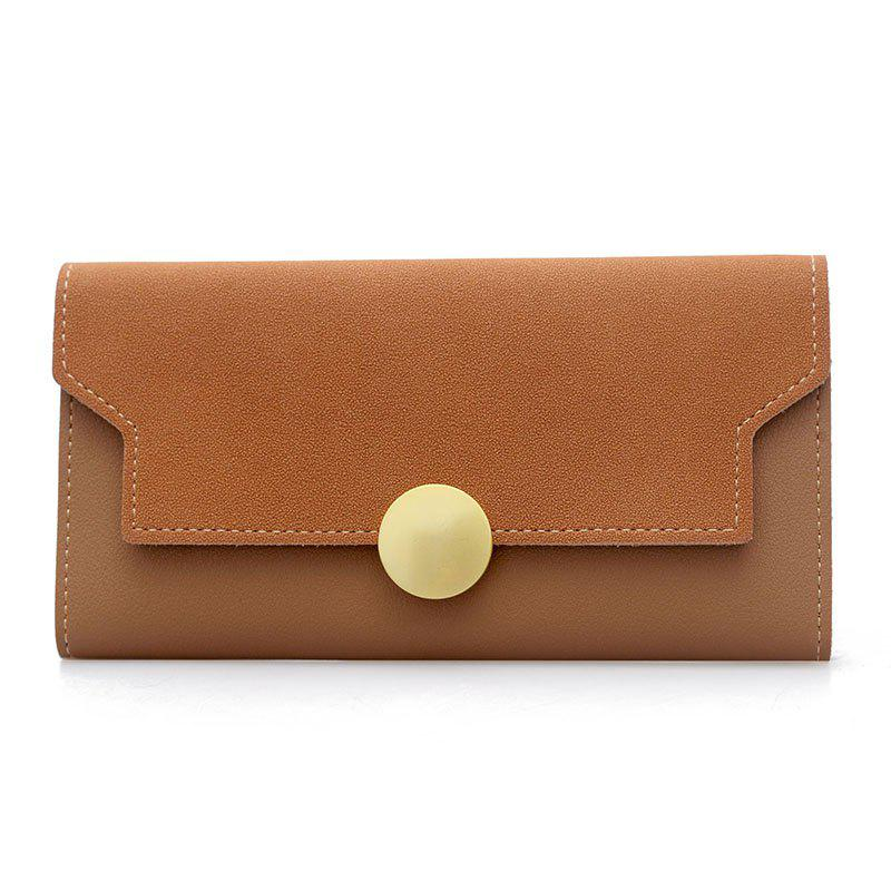 Outfits Fashion Simple Metal Decoration Two Fold Wallet