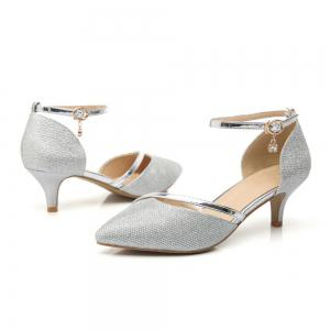 Women Fashion  Pointed Buckle Comfortable Pumps Shoes -