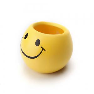 Yellow Emoji Decorative Ceramic Planter Pot -