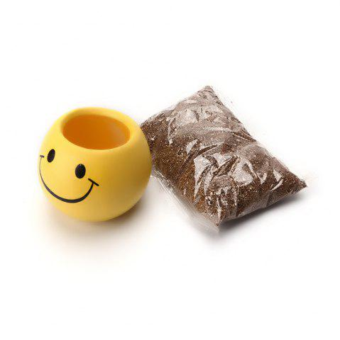 Cheap Yellow Emoji Decorative Ceramic Planter Pot
