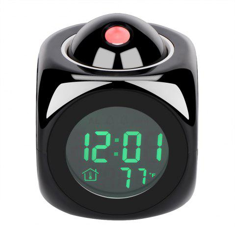 Shops LCD Display Digital Projection Voice Alarm Clock Support Backlight Snooze Function Cube LED Desk Clock