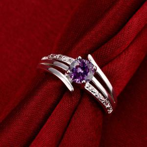 Fashion Design Elegant Zircon Ring Charm Jewelry -