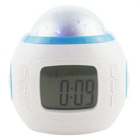 Best Sky Star Children Baby Room Night Light Projector Lamp Bedroom Music Alarm Clock