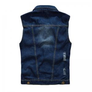 Men's  Solid Color Sleeveless Turn Down Collar Pocket Casual Waistcoat -
