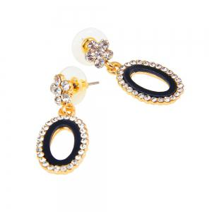 Women's Fashion with Diamond-encrusted Alloy Protective Earring Necklace -