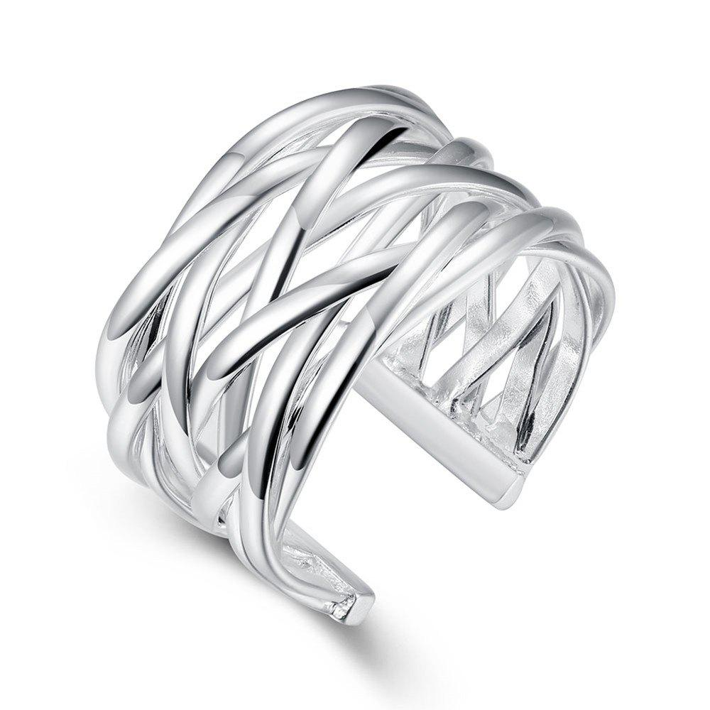 Online Fashion Adjustable Weaving Openning Ring Charm Jewelry