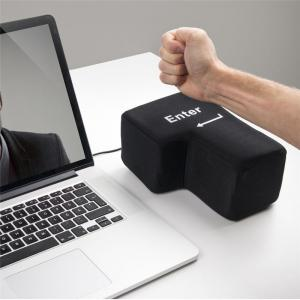 Jumbo Squishy Big Enter Anti Stress Key Unbreakable USB Pillow Office Desktop Punch Bag -