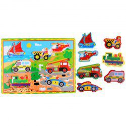 Woodiness Vehicle Jigsaw Puzzle Toy -