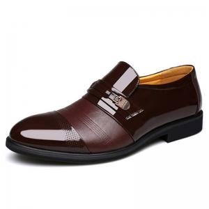 Men Cap Toe Pointed Toe Slip On Business Formal Shoes -