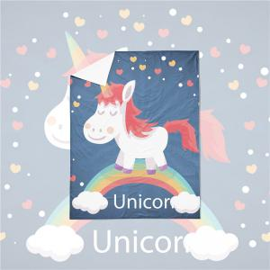 3D Series Cartoon Unicorn Pattern Three or Four Pieces Bedding Set -