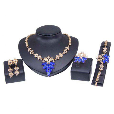 Shop Gold-plated Four-piece Necklace Earrings with Earrings