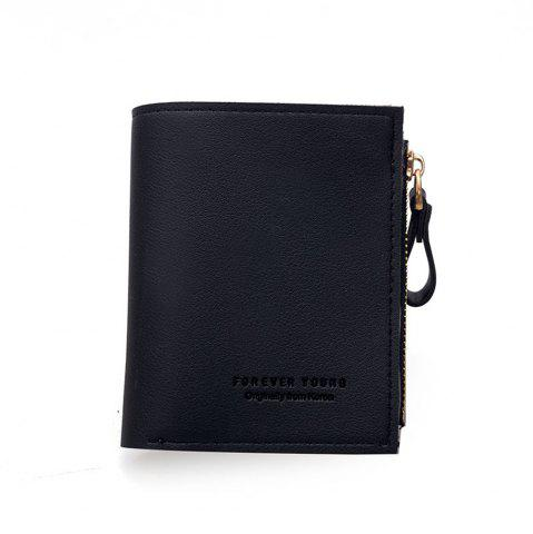 Online Small Purse Female Short Paragraph Fresh and Slim Personality Multi-functional Folding Student