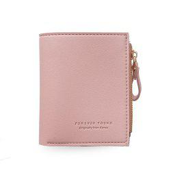 Small Purse Female Short Paragraph Fresh and Slim Personality Multi-functional Folding Student -