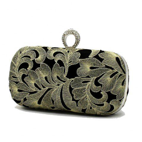 Outfits Vintage Style Embroider with Rrhinestone Ring Evening Clutch Bag