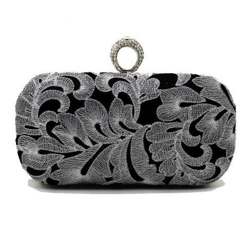 Discount Vintage Style Embroider with Rrhinestone Ring Evening Clutch Bag