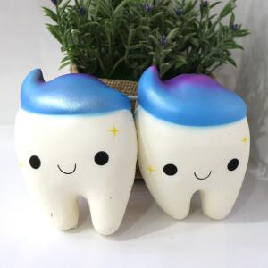 New PU Slow Springback Jumbo Squishy Toys Teeth Scent 1PC -