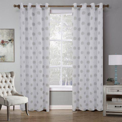 Best C21542 BBJHOME Doris Star Curtain for Bedroom
