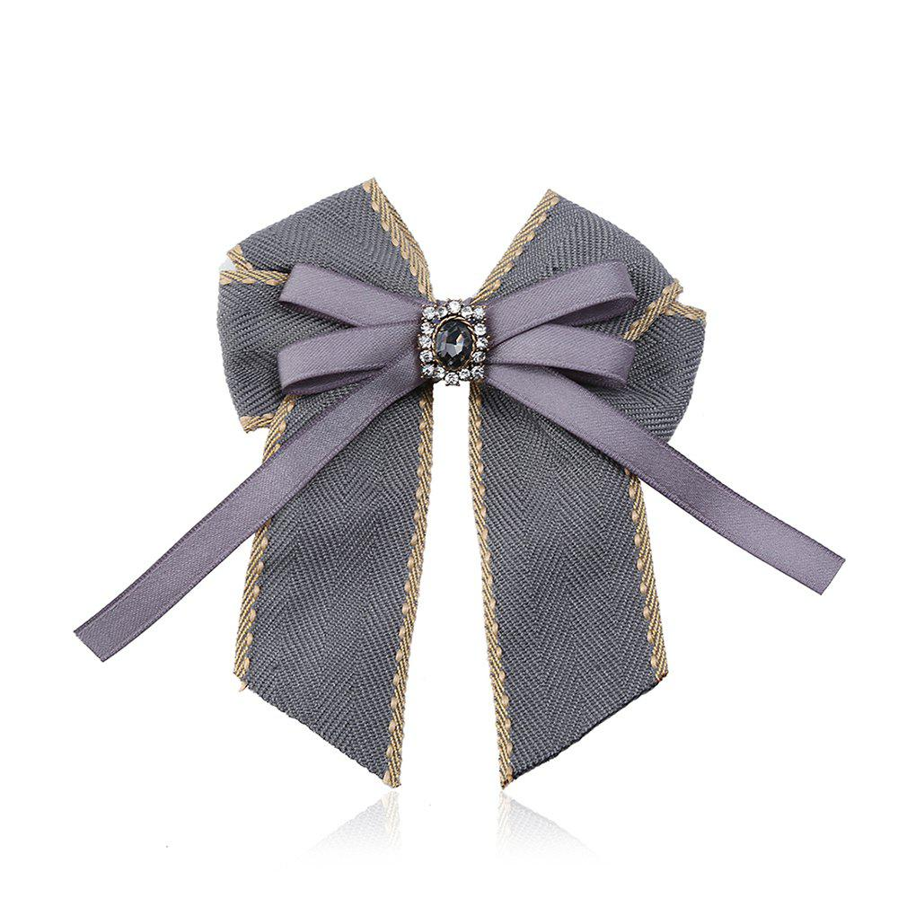 Affordable Fine Necktie Bee Striped Brooch Accessories