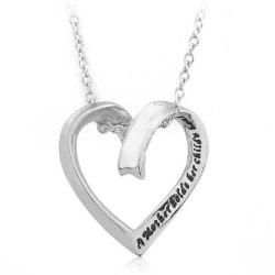 Women's Sweater Chain Simple Style Letter Print Fashionable Heart Shaped Accessory -