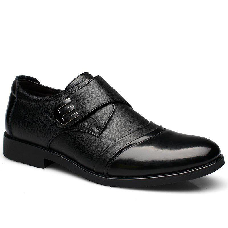 Best Men Classic Color Blocking Hook-Loop Business Casual Leather Shoes