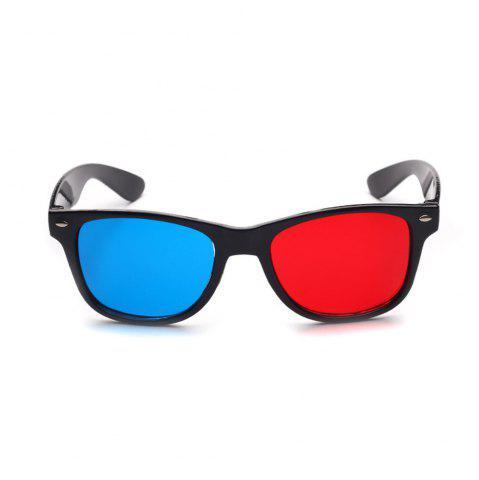 2018 New Universal 3D Glasses Frame Red Blue 3D Vision Glass for Dimensional Anaglyph Movie DVD Video TV Games